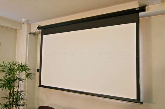 Electric 120' x 120' Projection screen image 1