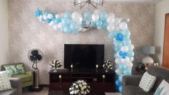 Balloon Garland and balloon decor image 5