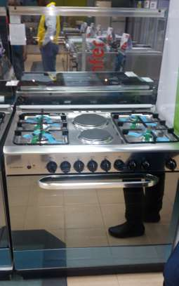 Ariston C011 SG1/CN 11SG1 (X)/EX Professional Cooker 4 + 2 Wide Gas - Oven & Grill - Stainless Steel image 1