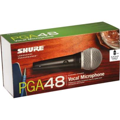 wired microphone for P.A system - Shure pga48 image 1