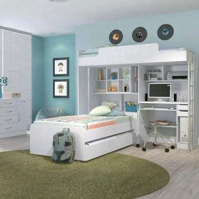 Bunk bed with study area image 1