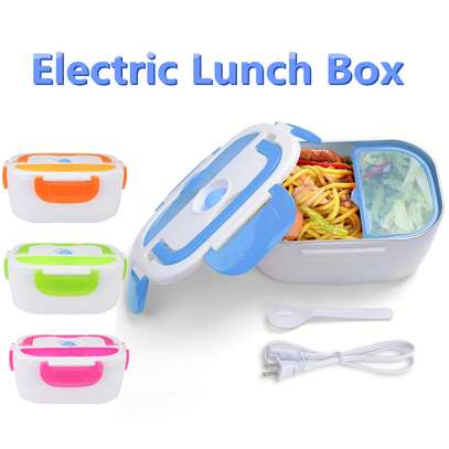 electric Lunch box steel -green image 2