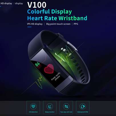Smart Bracelet V100 With Health Monitor Apps image 1