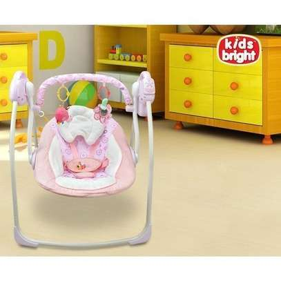 Kids Bright Electric baby swing chair musical baby bouncer newborn baby swings image 1