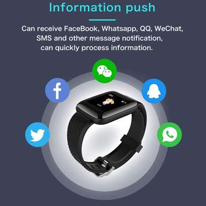 116 Plus Smart Watch Wristband Sports Fitness Blood Pressure Heart Rate Call Message Reminder Android Pedometer D13 Smart Watch image 6