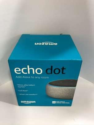 Amazon Alexa Echo Dot Smart Speaker (Heather Grey)3rd Gen image 1