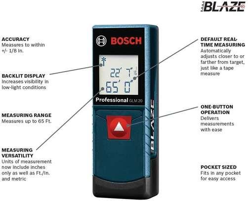 BOSCH GLM 20 Blaze 65' Laser Distance Measure image 2