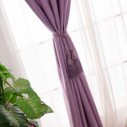 Linen Curtain(purple) image 3