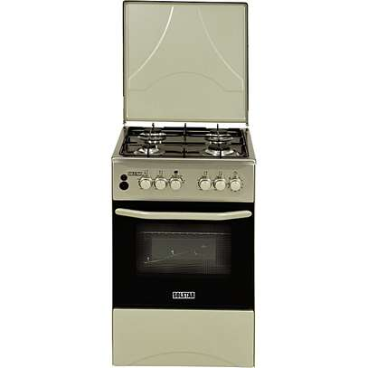 SOLSTAR SO 540F-GINB SS: 50cm Free Standing Cooker - 4 Gas Burners - Inox image 1
