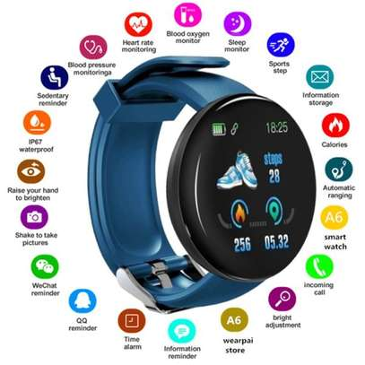 Fitness Tracker  with Heart Rate Blood Pressure Oxygen  Calorie  Waterproof-Blue image 1
