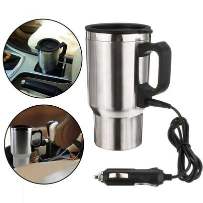 12V Car Electric Thermos Travel Mug Stainless Steel image 1