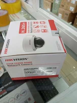4MP Hikvision Fixed IP Network Indoor Dome CCTV Camera image 1
