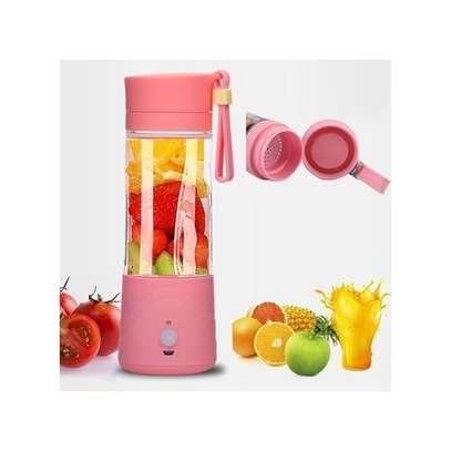 USB Rechargeable Portable Blender - Hand Held Fruit Juicer Smoothie Maker Bottle-Pink image 2