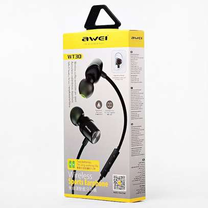 Awei WT30 Magnetic Sports Bluetooth Earphone Earbuds image 7