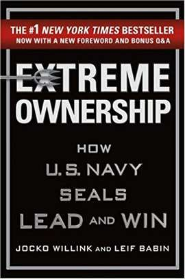 Extreme Ownership: How U.S. Navy SEALs Lead and Win (New Edition) Hardcover – November 21, 2017 by Jocko Willink  (Author), Leif Babin  (Author) image 1