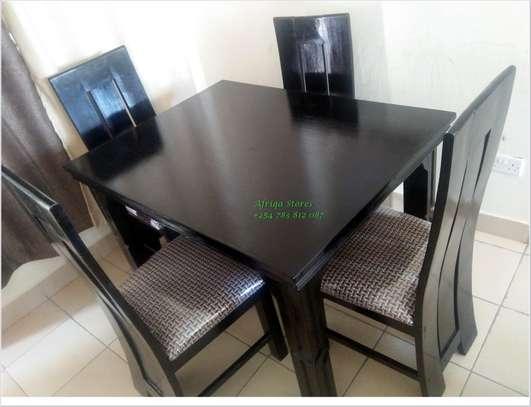 4 seater mahogany dining table image 4