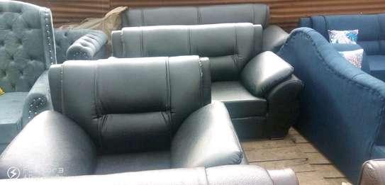 Comfortable Modern Quality 7 Seater Leather Kangaroo Sofa image 1