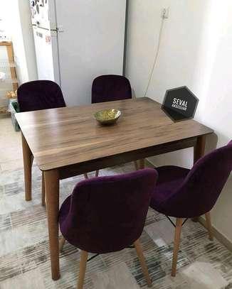 Four seater wooden dining set kenya/Square dining table set for sale in Nairobi Kenya image 1