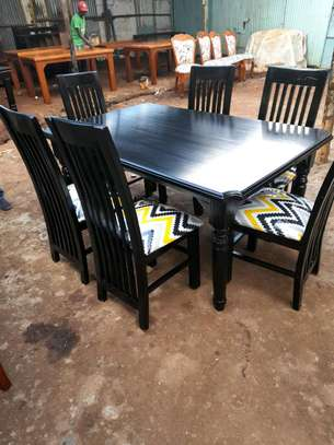 Ready 6-Seater Mahogany Dining Table image 1