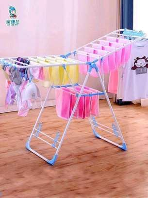 Outdoor foldable portable clothes drying rack image 1