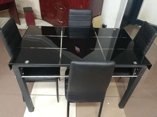Qulity Tempered Glass Dinning Table image 1