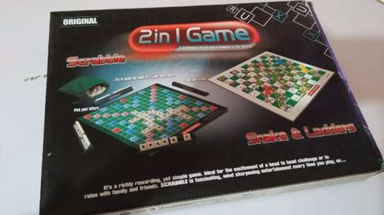 Scrabble & Snakes And Ladders Family Board Games image 1
