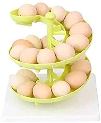 Sliding Spiral egg / fruits organizer image 1