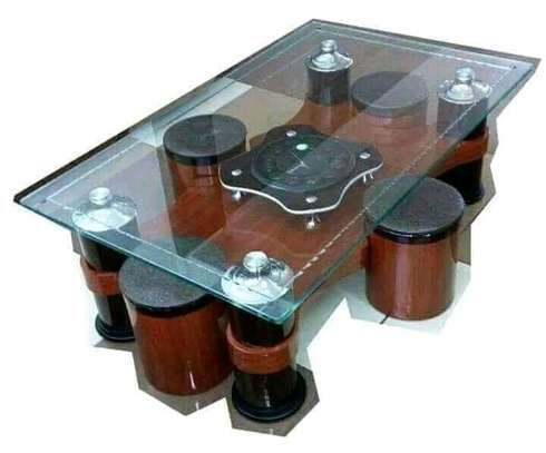 Glasstop coffee tables. image 4