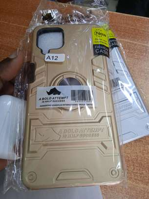 Samsung A12 Armoured Back Cover in shop(with glass Protectors) image 2