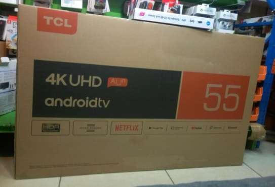TCL 55 INCH 4K UHD SMART ANDROID TV - P8M Series image 1