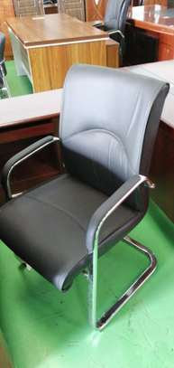 Boardroom Cantilever Leather Chair image 1