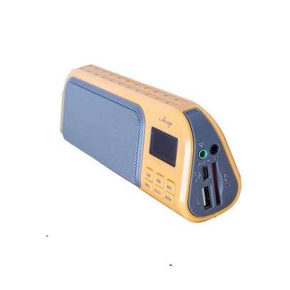 A7 FM Radio, Portable,supports USB & AUX - Multicolour image 1