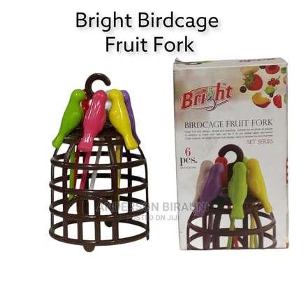 Bright Birdcage Fruit Fork image 1