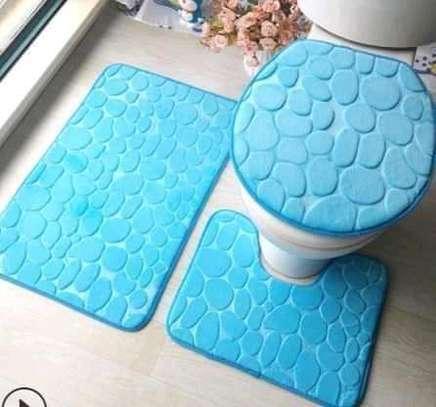 3 piece toilet mat image 1