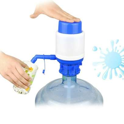 Hand Press Water Dispenser Manual Pump For Bottled Water - Blue image 1