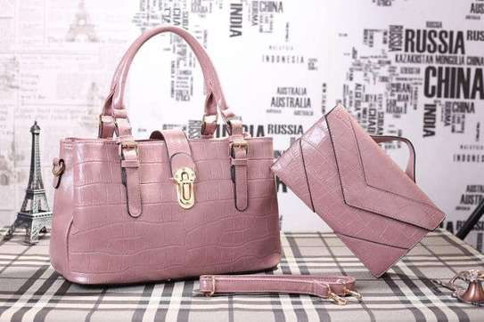 2 Piece Leather Handbag Sets. image 5