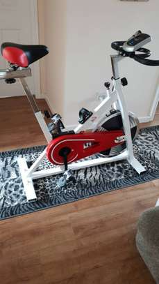 Gym exercise spin bike image 1