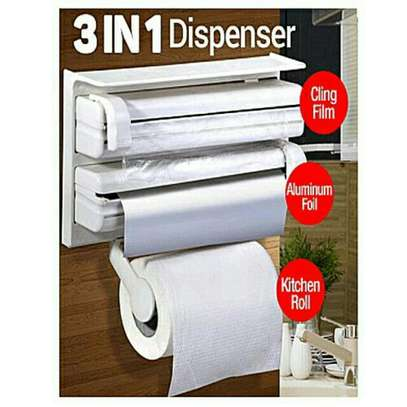 3 in 1 kitchen foil,cling film and kitchen roll/paper dispenser