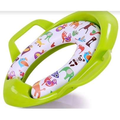 Children Potty Training Seat Kids Baby Toddler Handle Toilet Soft Pad Portable-green image 1