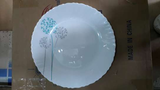 6pc square dinner plate/Round dinner plate/Glass plate/Flowered plates image 7