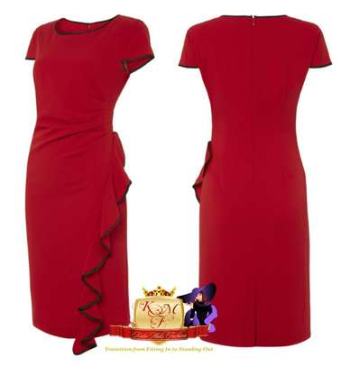 Side Frill Bodycon Dresses image 1