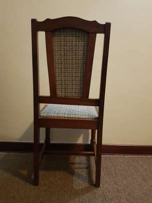 Dining Set of 6 Hardwood dining chairs & table image 2