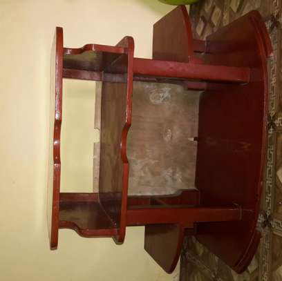 Wooden TV stand. image 1