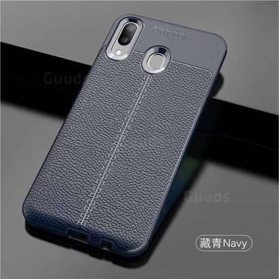 Auto Focus Leather Pattern Soft TPU Back Case Cover for Samsung M10 M20 M30 image 8