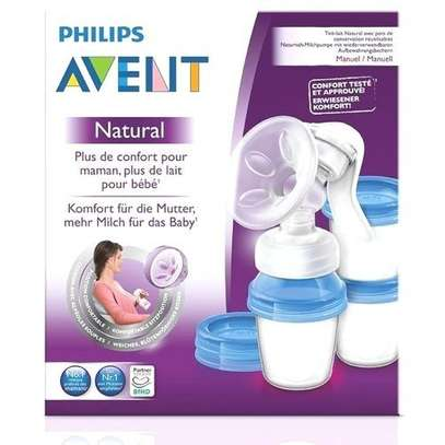 Philips AVENT Manual Breast Pump+ FREE reusable cups image 1