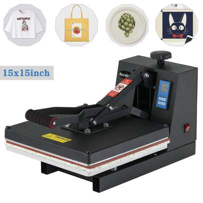 Digital Heat Presses, Power Vinyl Sublimation Printing Press, 1400W Industrial Heat Transfer Machine for T-Shirt, Mouse Pad, Canvas Bags, Tablecloth, Banner image 1
