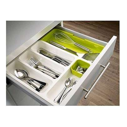 Expandable Drawer Cutlery Organiser  To image 1