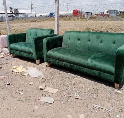 A green back permanent  5 seater. image 1