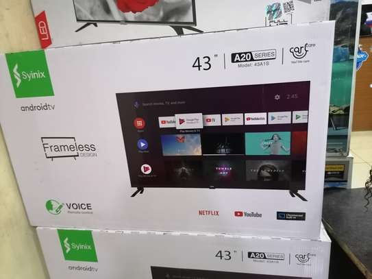 Brand new 43 inch syinix smart android led TV image 1