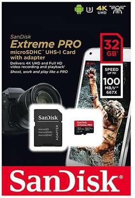 SanDisk Extreme Pro 32GB 4K Ultra HD microSDXC UHS-I Memory Card image 1